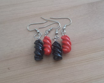 Licorice Candy Earrings