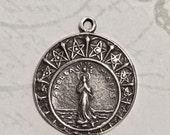 Sterling Silver Stella Maris Medal