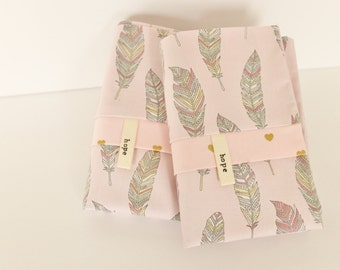 Feathers Pillowcases Pink Southwest Feather Spring Bedding Pillow Cotton Adoption Fundraiser