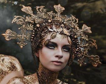 READY TO SHIP Goddess Empress crown halo headpiece headdress