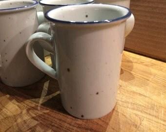 Dansk Blue Mist Coffee Tea Mugs Set of 10 Denmark