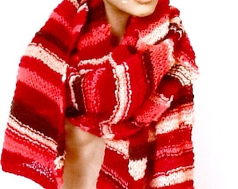 Mellifleurs sciarpa di lana multicolore fatta a mano