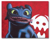 Toothless print by Alicia Wishart