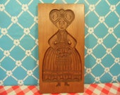 Woman Wood Cookie Mold - Dillon Carving