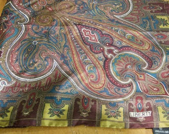 Authentic Liberty Of London Silk Paisley Scarf