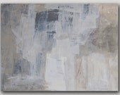 Reserved for alisonbelanoff, original contemporary painting, gray and beige neutral wall art acrylic on canvas painting by Victoria Kloch