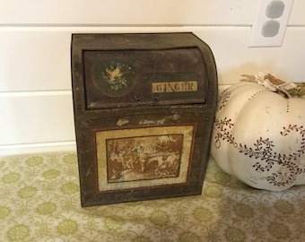 Antique Ginger Tin,General Store,Chicago,Lithgraphed Spice Tin