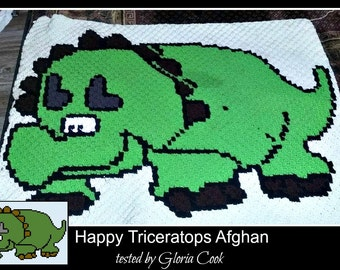 Happy Triceratops, C2C Graph, & Written Word Chart