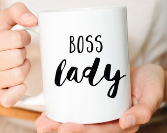Boss Mug, Boss lady, girl boss, Mug gift, mom mug, friend gift, boss mug, coffee mug, Cute mug, lettered mug, Mom gift