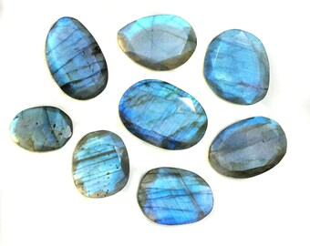 Spectrolite Labradorite Free form Faceted Gemstones lot for jewelry making pendants rings necklaces finegemstone wholesale supplie