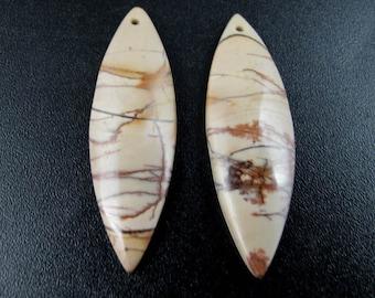 Fabulous cherry creek  jasper  earrings pair,  Natural stone, Jewelry making supplies S7716