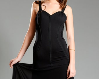 "Maxi dresses Black design ""HADAR"" SALE!!! - an intelligent delicate lingerie look, harmonic and sexy in just the right way."
