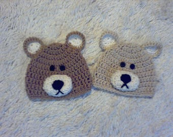 Baby Bear Beanie Photo Prop, Baby Gift, Baby Shower Gift