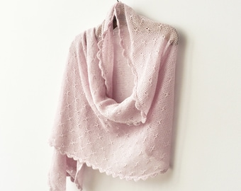 30% off!!! PINK BLUSH SHAWL bridal shawl wedding shrug knitted cover silk and baby alpaca wool exclusive