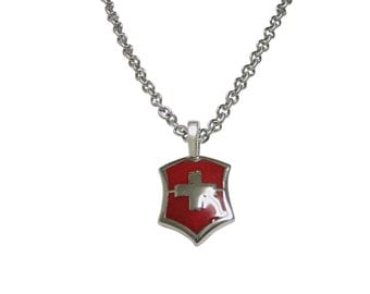 Red Cross Design Necklace