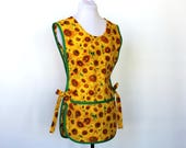 Legacy Studios Sunflowers - Cobbler Smock Style Cotton Apron with two big pockets - Kansas state Flower