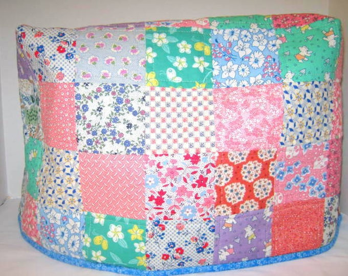 Thirties Fabric Quilted Sewing Machine Dust Cover, JDCreativeHands