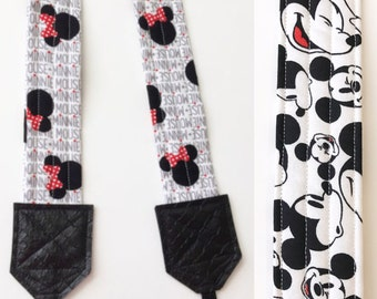 Camera Strap - dslr camera strap - minnie mouse camera strap - camera neck strap - disney camera strap - mickey mouse camera strap