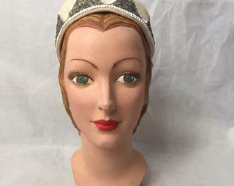 1950s beaded hat