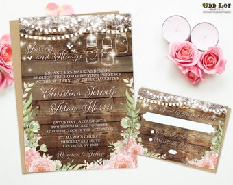 a wedding invitation boho wedding invite etsy 1203