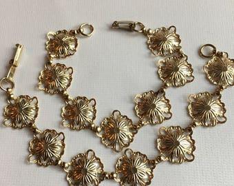 Vintage Set Gold Tone Bracelets