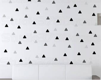 Triangle Vinyl Wall Decals - Triangle Decals for Baby Nursery - Trend Decor - Triangle Wall Decals - 3in - Multi Pack