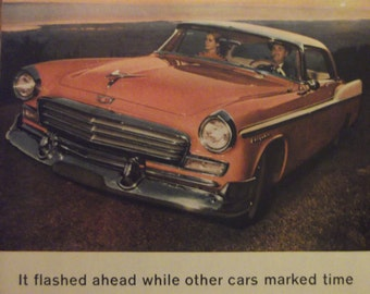 1956 CHRYSLER Windsor New Yorker Antique Automobiles Vintage Cars Original Vintage Ads Additional Ads Ship FREE Ready To Frame