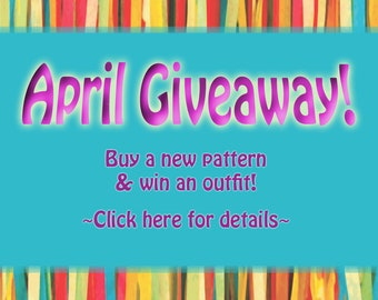 Monthly Giveaway: Win free doll clothes when you buy new pattern releases!