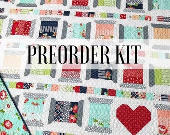 PREORDER Spools2 Quilt Kit from Thimbleblossom in The Good Life by Bonnie and Camille