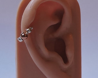 """Cartilage Ring - 20 or 18 Gauge 8mm 5/16"""" - 10mm 3/8"""" - Sterling Silver - 14K Yellow or Rose Gold Fill - Helix Rook Tragus Endless Hoop"""