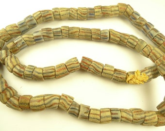 "32"" old big nested layered handmade African powder glass trade beads AI-0027"