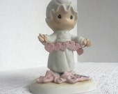 Valentine Sale Precious Moments Figurine Vintage Porcelain / You Have Touched So Many Hearts by Jonathan and David / 1983 Enesco