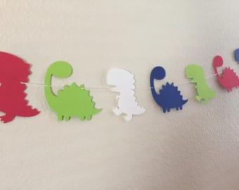 Dinosaur garland, baby shower garland, Dinosaur garland, Dinosaur paper garland, birthday banner