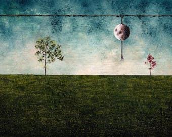 """Art Print // Nature - moon - dancer// """"Summer""""."""