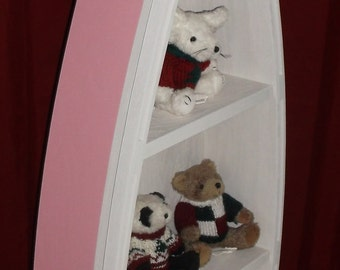 """48"""" Pink row boat shelf BARBIE Perfect for the little girls room"""