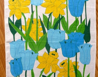 Floral Tea Towel Made in Hong Kong by Franco