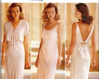 """Easy Women's Sleeveless, Slip Dress & Jacket Pattern - Size 14, 16, 18; Bust 36"""", 38"""", 40"""" - Butterick EXPO 4041 uncut"""