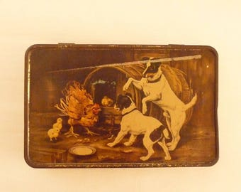 Vintage Tin Box MacRobertson's Tin Terrier Lithograph The Intruders