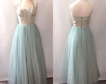 1940's Tulle Prom Dress