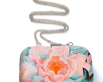 Box purse, box clutch, Idda, birthday gift, gift for her, gift for mom, Woody Ellen bag, christmas gift, valentine gift ideas, babyblue  bag