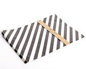 Free Shipping 20 Black Diagonal Striped Bitty Bags 6.25 X 9.25