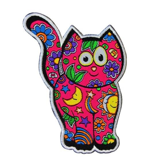 Dan Morris Kid Friendly Cat Craft Patch DIY Child Apparel Cute Iron-On Applique