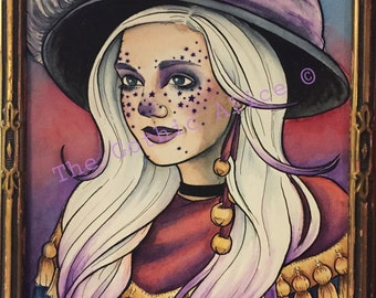 Starry Eyed Witch Digital Print