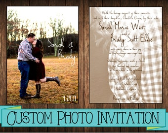 Custom Photo Wedding/Party Invitation Printable