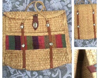 Woven tote for the warm weather