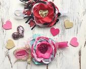 Heart of gold headband- Valentine's Day headband- heart headband- baby girl headband