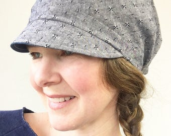 Women's Slouchy Newsboy, Slouchy Hat for Women, Fabric Slouchy Women's Hat, Fabric Slouchy Hat, Custom Women's Hat, Denim Hat