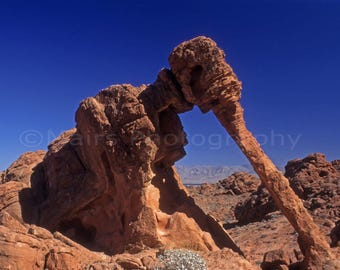 Nevada Valley of Fire, Desert Landscape Red Sandstone Nature Travel Photography, Fine Art Photography matted & signed Original Photograph