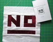 Make Your Fabric into Patchwork #2 : Practice Saying NO Quilting Zine for DIY Wallhanging, Pillow, Placemat, or Large Quilt