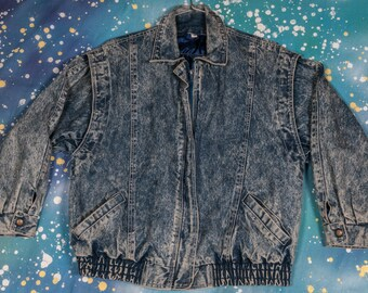 90's Denim Jacket Zipup Men's Size M